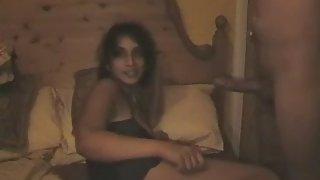 Mature girl enjoying blowjob