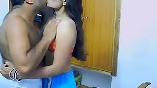 Mature Indian couple kissing each other