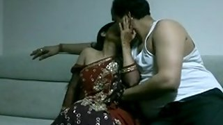 Mature Indian couple fucking in lounge after party