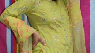 rupali in green shalwar suit