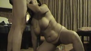 Indian bhabhi giving blowjob to hubby