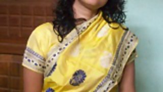 Indian wife padma in saree getting naked giving blowjob