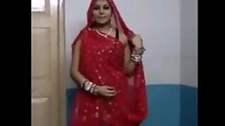 Rajhastani wife dancing in ghagra cholie filmed by her hubby