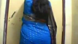 busty Indian wife stripping naked getting boobs pressed