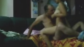 Indian couple fucking in lounge after a party