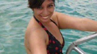 Pakistani girl on beach in bikini 2